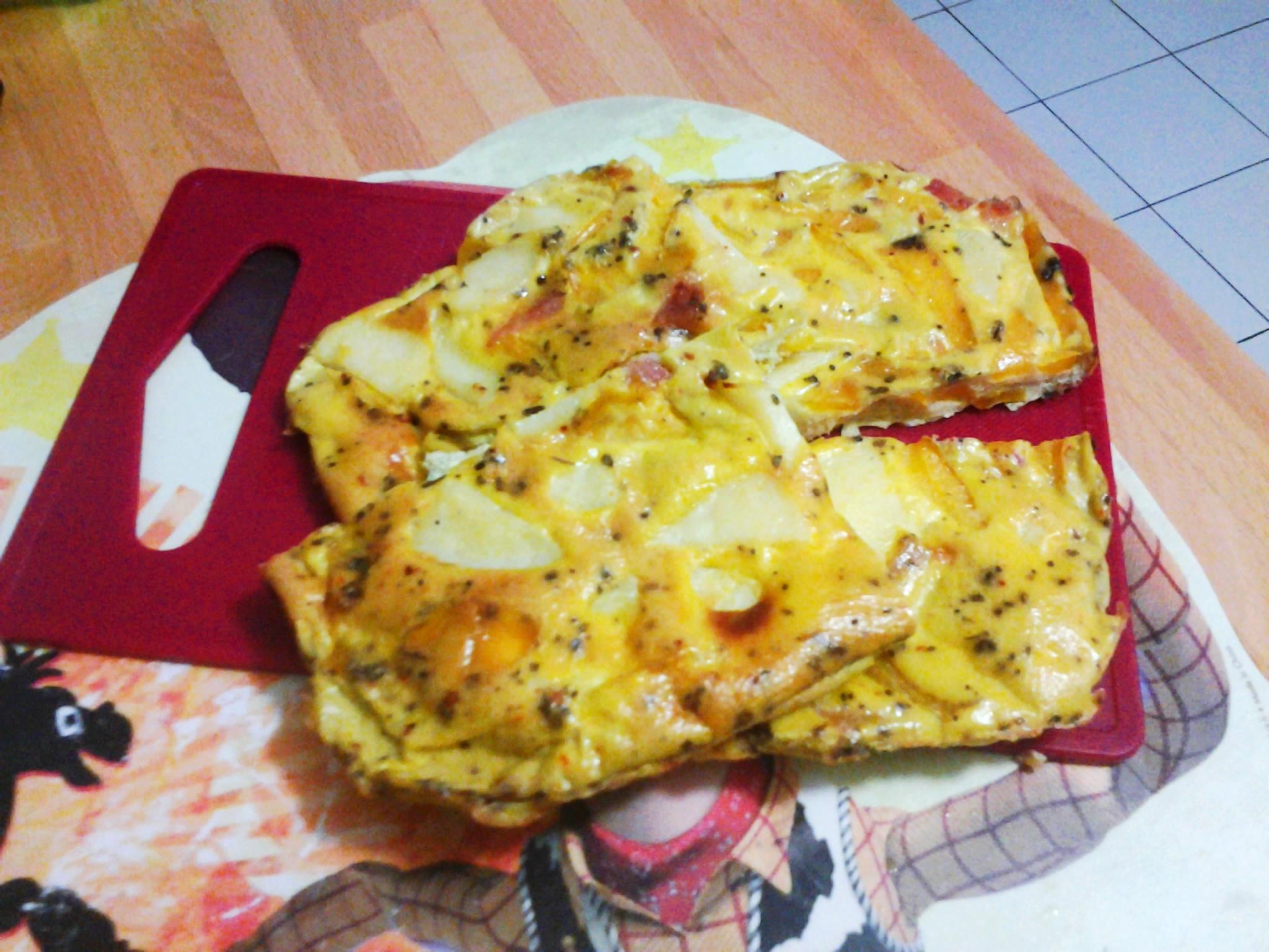 frittata al forno con peperoni gialli