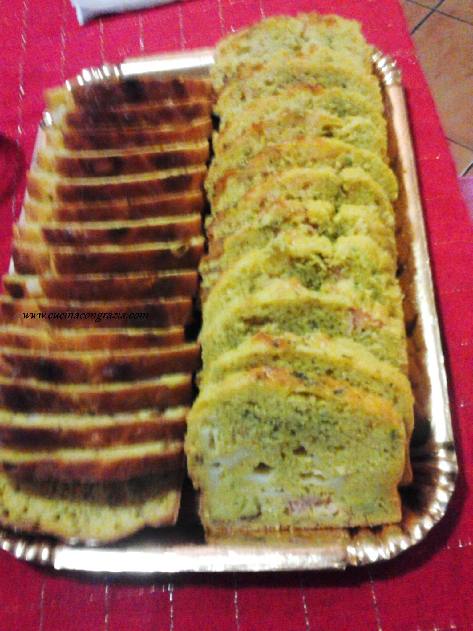 plum cake speck zucchine e provola