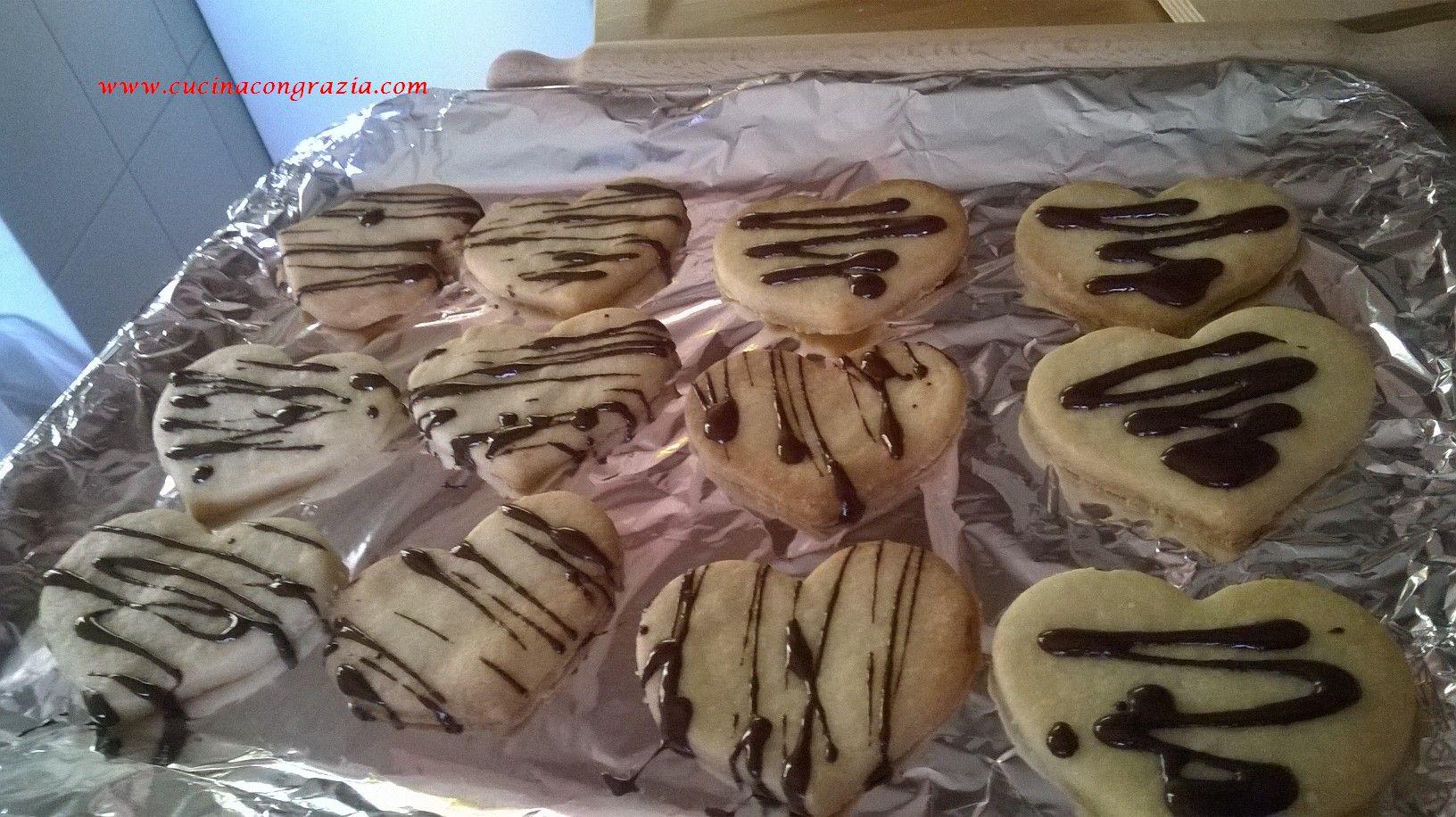 biscotti cuore cioccolato