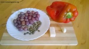 peperone con olive taggiasche di Gabriele